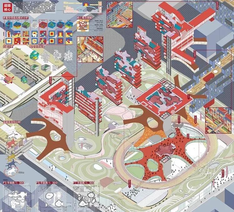 同济大学建筑与城市规划学院优秀毕业设计-超级校园