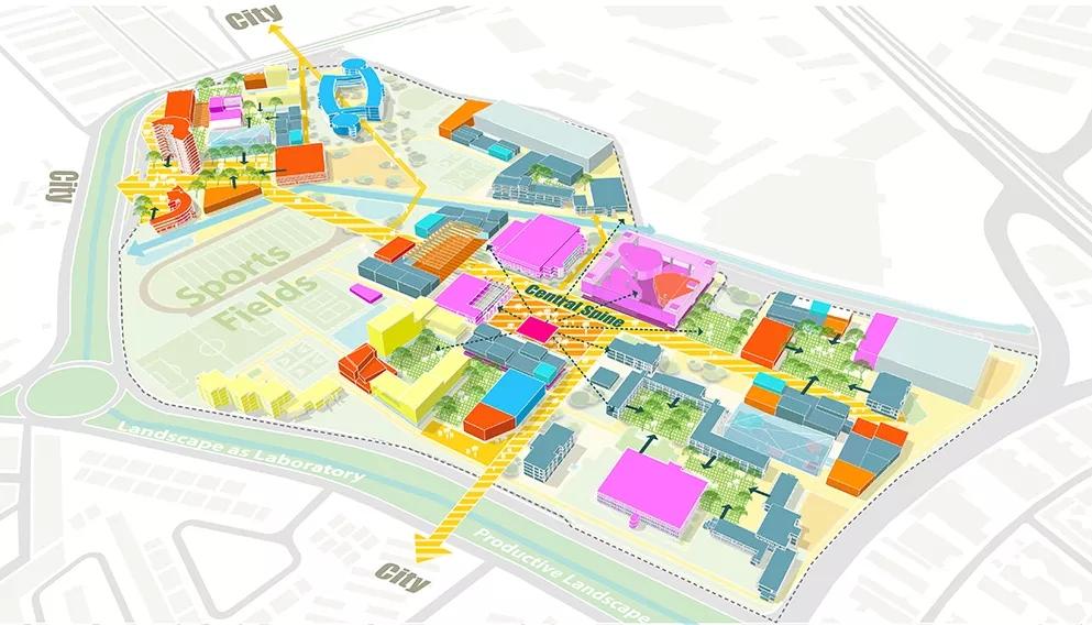 SASAKI超好看的分析图,都少不了城市色彩规划